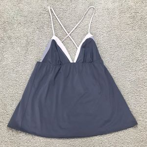 Victoria's Secret Camisole Purple Top Gray M O707